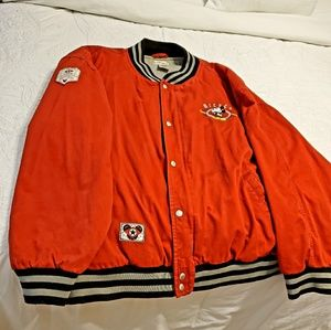Mickey Mouse Store Jacket Large Red Disney 1928 Cl